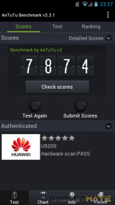 Huawei Ascend P1 Review - AnTuTu Benchmark